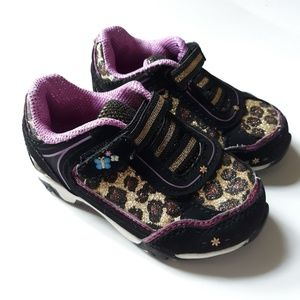 Toddler Girl Shoes | size 5 Sparkly Leopard Print